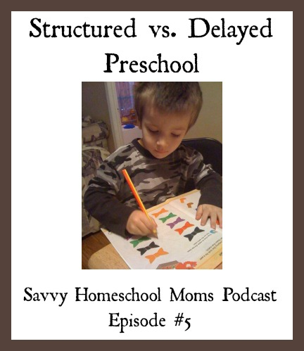 Structured vs. Delayed Preschool, Savvy Homeschool Moms