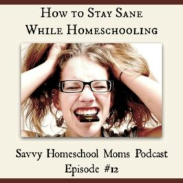 How to Stay Sane While Homeschooling (Ep 12, 8/5/12)