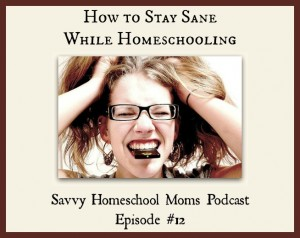 How to stay sane while homeschooling, Savvy Homeschool Moms Podcast