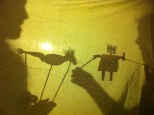 Homeschooling with The Amazing Race, Indonesia shadow puppets