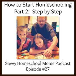 How to start homeschooling, Part 2, Step by Step (2/24/13, Ep 27)