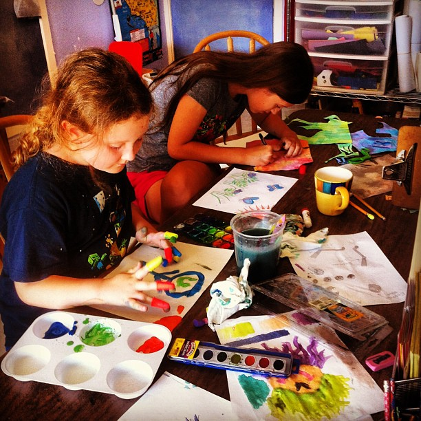 Adding art to our day!--Tina #homeschool