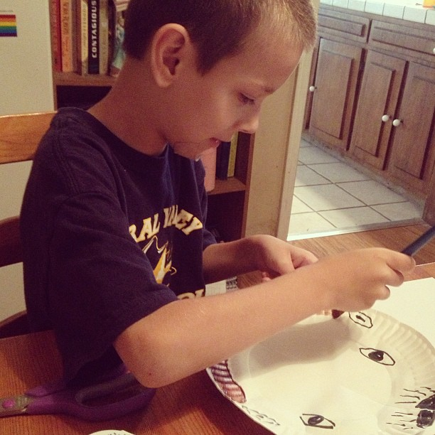 Jack-Jack making a kangaroo rat before telling me all about its habitat -Beckie #homeschool