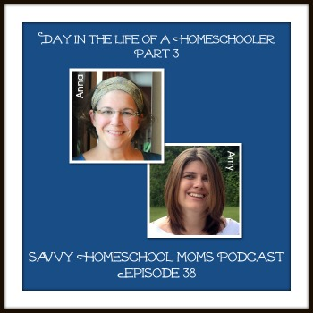 Savvy Homeschool Moms Podcast, episode 38, Day in the Life of a Homeschooler Part 3