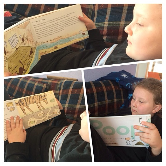 """Reading the book: """"Poop: A Natural History of the Unmentionable"""" #homeschool #books --Tina"""