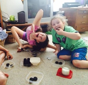 LeftCenterRight dice game with Oreos!
