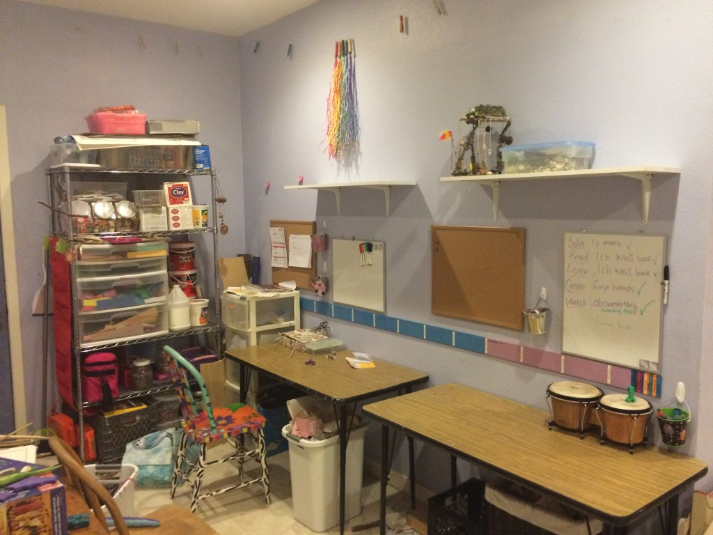 Tina's kids' work stations